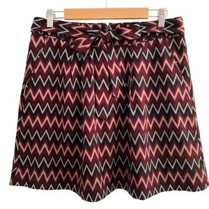 Banana Republic Factory Chevron Tie Waist Skirt